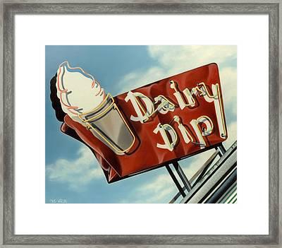 Dairy Dip Framed Print by Van Cordle
