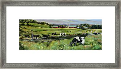 Dairy Farm Dream Framed Print