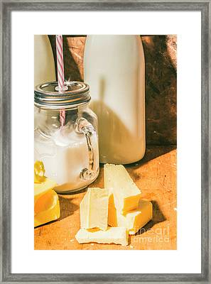 Dairy Farm Products Framed Print by Jorgo Photography - Wall Art Gallery