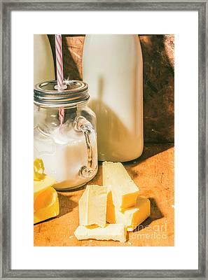 Dairy Farm Products Framed Print