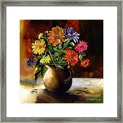 Daisies From My Garden Framed Print by Sweta Prasad
