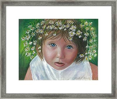 Daisies In My Hair Framed Print