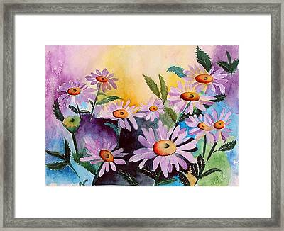 Daisies Framed Print by Mary Gaines