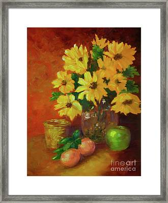 Daisies Of The Galaxy Framed Print
