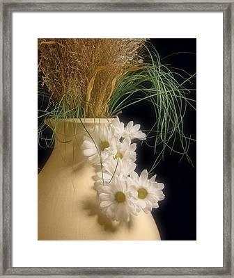 Daisies On The Side Framed Print by Tom Mc Nemar