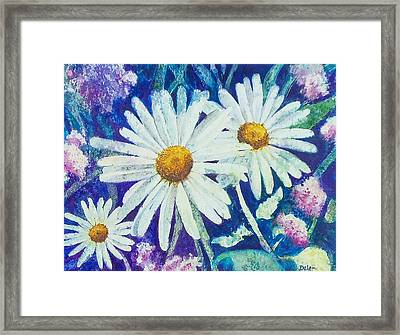 Framed Print featuring the painting Daisies by Susan DeLain