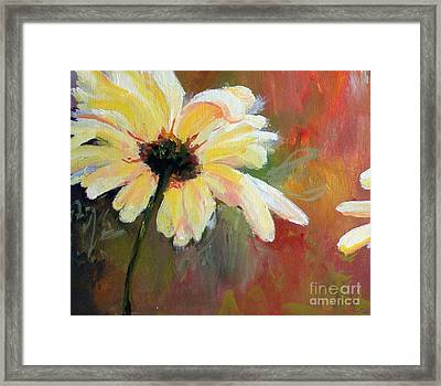 Framed Print featuring the painting Daisy 1 Of 3 Triptych by Susan Fisher