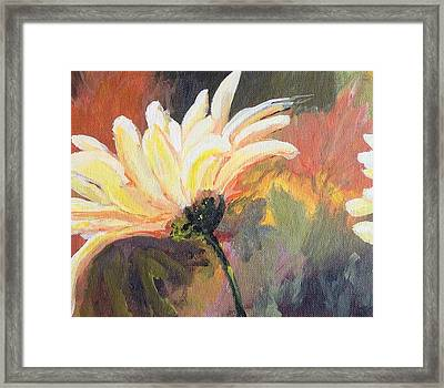 Framed Print featuring the painting Daisy 2 Of 3 Triptych by Susan Fisher