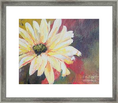 Framed Print featuring the painting Daisy 3 Of 3 Triptych by Susan Fisher