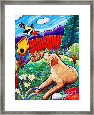 Daisy And The Tanager Framed Print by Harriet Peck Taylor
