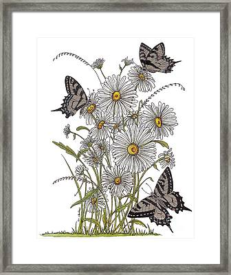 Framed Print featuring the painting Daisy At Your Feet by Stanza Widen