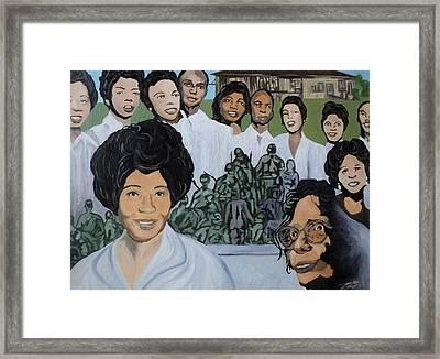 Daisy Bates And The Little Rock Nine Tribute Framed Print by Angelo Thomas