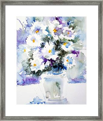 Daisy Bouquet Framed Print by Carol Sprovtsoff