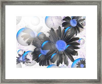 Daisy Bubbles Framed Print