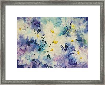 Daisy-chain Framed Print by Nancy Newman