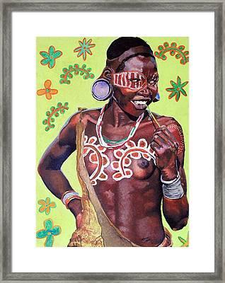 Daisy Child Framed Print by Andre Ajibade