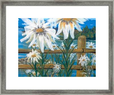 Framed Print featuring the painting Daisy Dance by Saundra Johnson