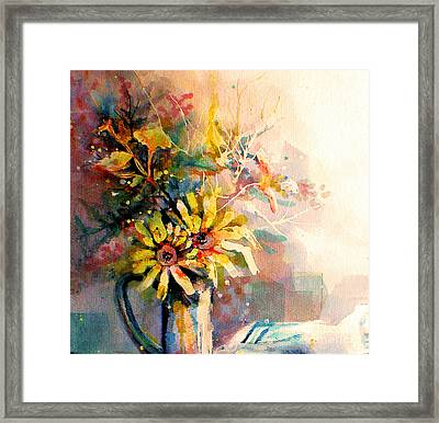 Framed Print featuring the painting Daisy Day by Linda Shackelford
