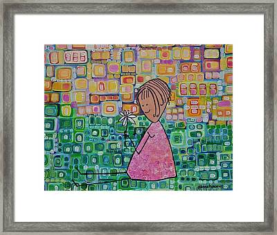 Framed Print featuring the painting Daisy by Donna Howard