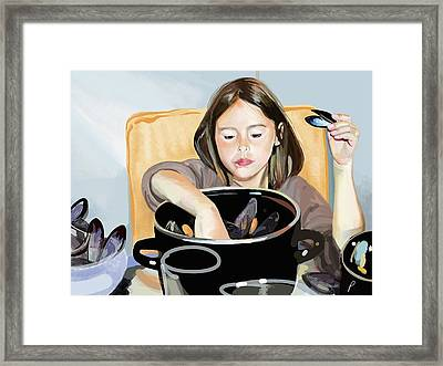 Daisy Eating Muscles Framed Print