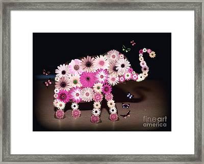 Daisy Elephant Framed Print by Donna Bentley