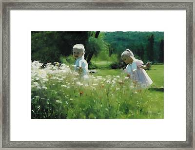 Daisy Field Of Innocents Framed Print by Elzire S