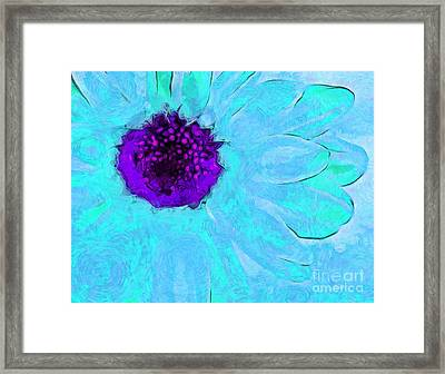 Daisy In Disguise Framed Print by Krissy Katsimbras