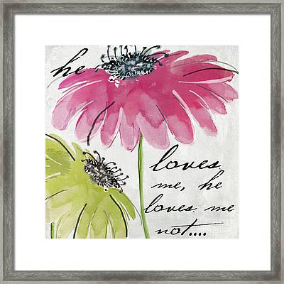 Daisy Morning II Framed Print by Mindy Sommers