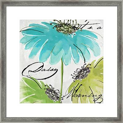 Daisy Morning Framed Print
