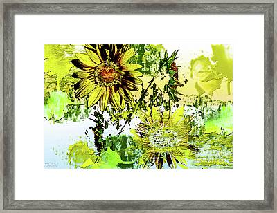 Sunflower On Water Framed Print