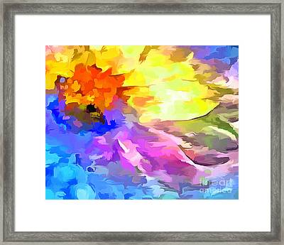 Daisy Splash Framed Print