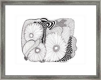 Daisy Zentangle Framed Print