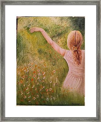 Daisying Around Framed Print by Hermi Zumbado