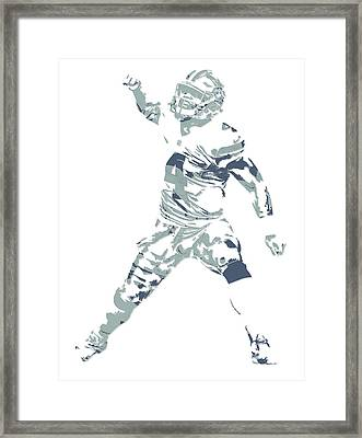 Dak Prescott Dallas Cowboys Pixel Art 10 Framed Print