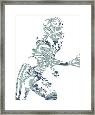 Dak Prescott Dallas Cowboys Pixel Art 11 Framed Print