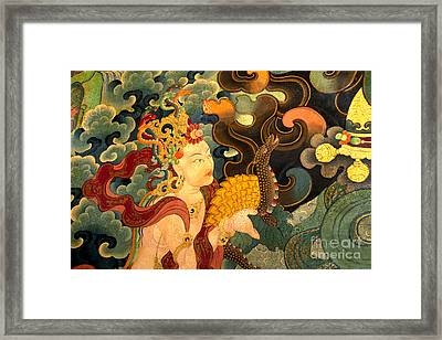 Dakini With Nagas - Sera Monastery Tibet Framed Print by Craig Lovell