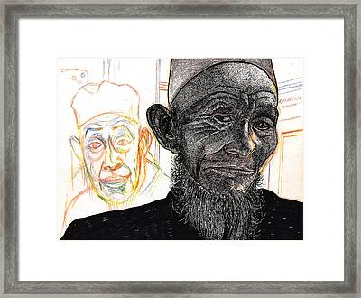 Dalai Happily Happened Upon Framed Print by Al Goldfarb