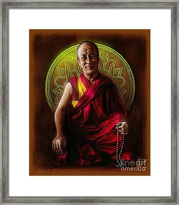 Dalai Lama Framed Print by Andre Koekemoer