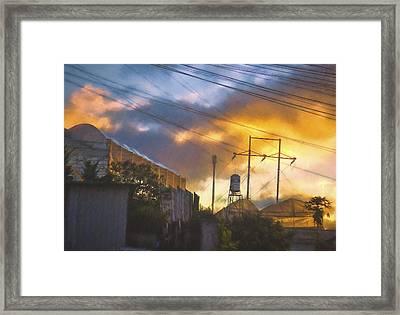 Dalat Sunset Framed Print by Claude LeTien
