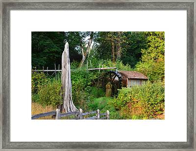 Dalby Waterwheel Framed Print by Mark Bowmer