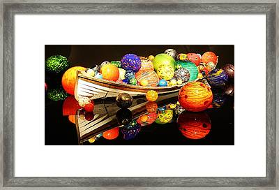 Glass Sculpture Boat Framed Print