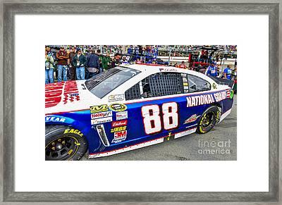 Dale Earnhardt Jr At Bristol Motor Speedway Driving #88 During N Framed Print