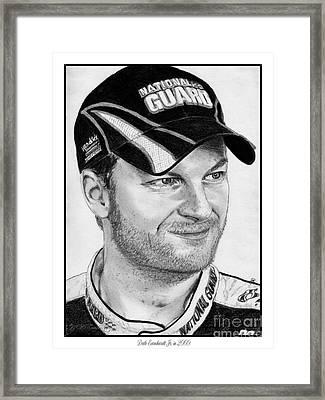 Dale Earnhardt Jr In 2009 Framed Print by J McCombie
