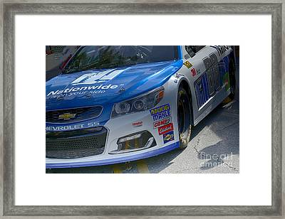 Dale Earnhardt Jr No 3 Car Framed Print by JW Hanley