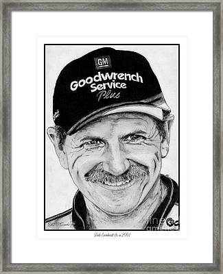 Dale Earnhardt Sr In 2001 Framed Print by J McCombie