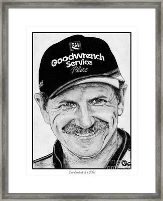 Dale Earnhardt Sr In 2001 Framed Print by J McCombie