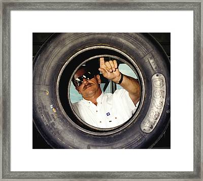 Dale Earnhardt The Intimidator  Framed Print by Jeff  Young