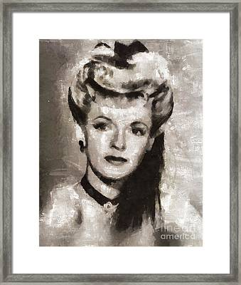 Dale Evans, Actress Framed Print by Mary Bassett