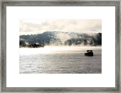 Dale Hollow Morning Fishing Framed Print