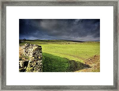 Dales Storm Clouds Framed Print